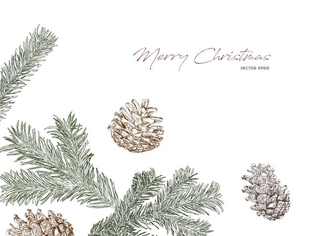 クリスマスの概念の手描きスケッチベクトル。
