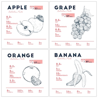フルーツの栄養成分