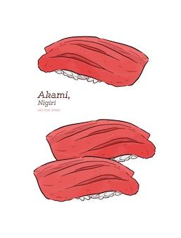 Магуро аками нигири суши