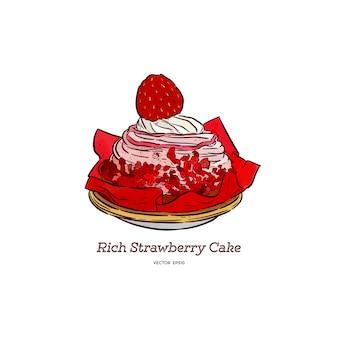 Богатый клубничный торт