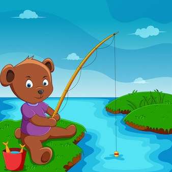 Милая иллюстрация медведя