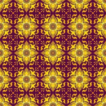 Тайский узор с элементами цветов