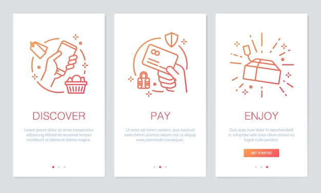 Покупки онлайн-приложений на экранах приложений.