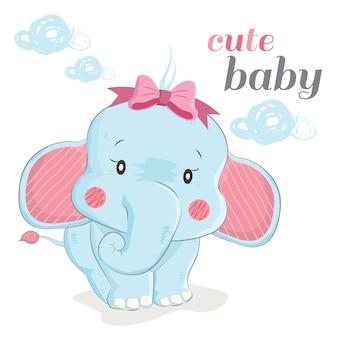 Симпатичный слон для новорожденных