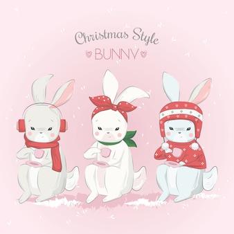 クリスマススタイルバニー