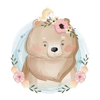 かわいいクマの肖像画