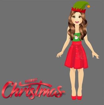 かわいい女の子のメリークリスマス