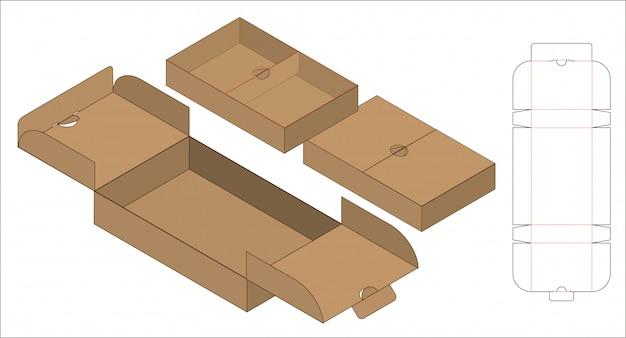 Коробка упаковочная высечка шаблон