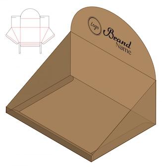 Коробка упаковочная вырубная дизайн шаблона