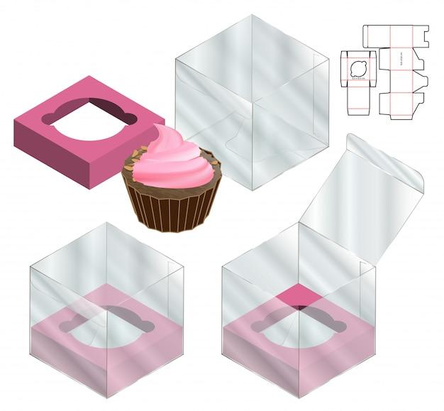 ボックス包装ダイカットテンプレートデザイン。
