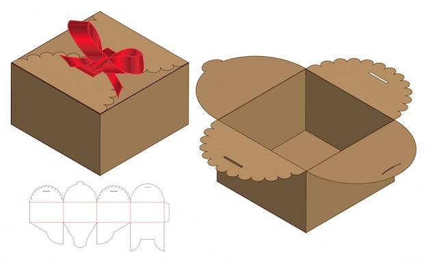 ボックス包装ダイカット印刷用テンプレート