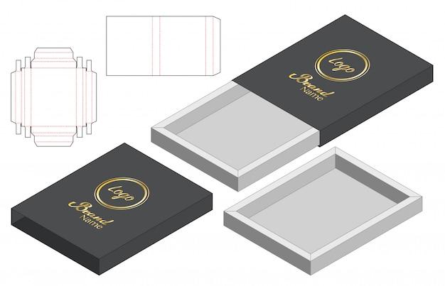 ボックス包装ダイカットテンプレートデザイン