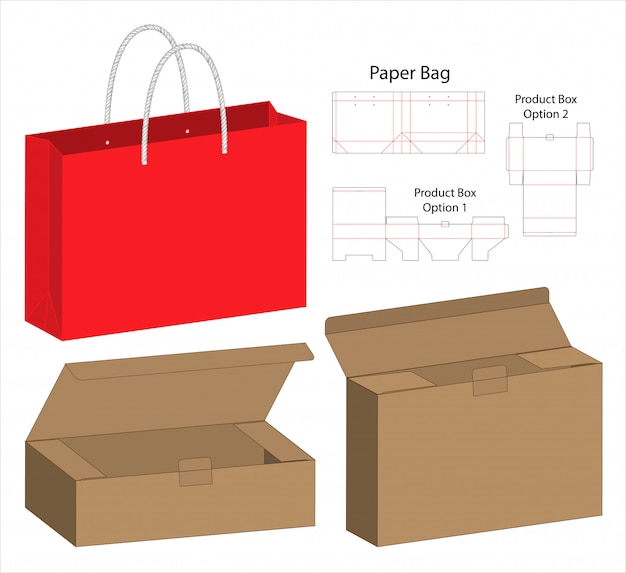 ボックス包装ダイカットテンプレート