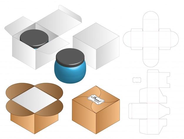 ボックスパッケージダイカットテンプレートデザイン