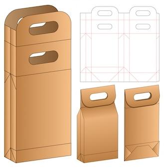 バッグ包装ダイカットテンプレートデザイン。