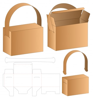 Коробка упаковочная высечки шаблон