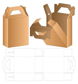箱包装型抜きテンプレート
