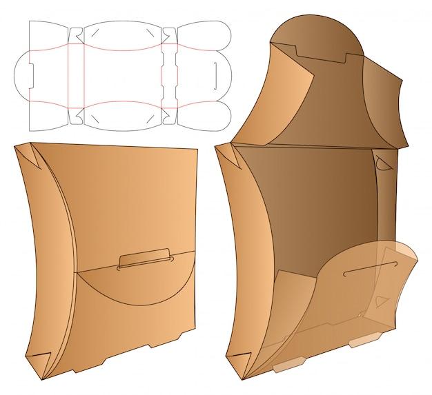 ボックス包装型抜きテンプレート