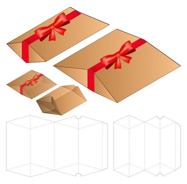 ボックスパッケージダイカットテンプレートデザイン。