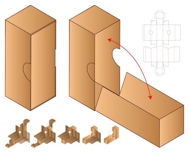 Коробка упаковочная вырубная шаблон
