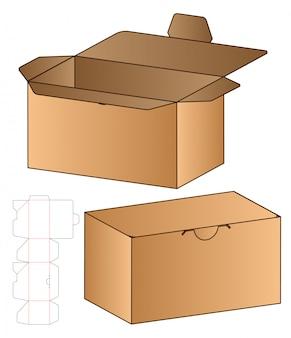 Коробка упаковочная высечки шаблон дизайна.