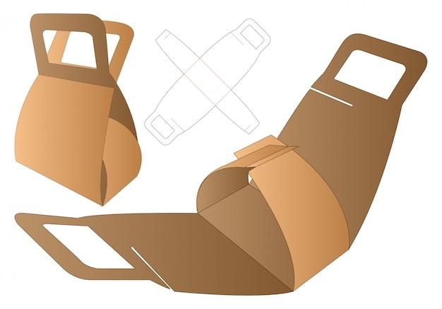 Коробка упаковочная вырубная шаблон.