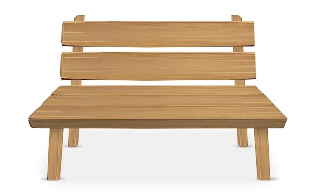 Настоящий деревянный стул на белом фоне