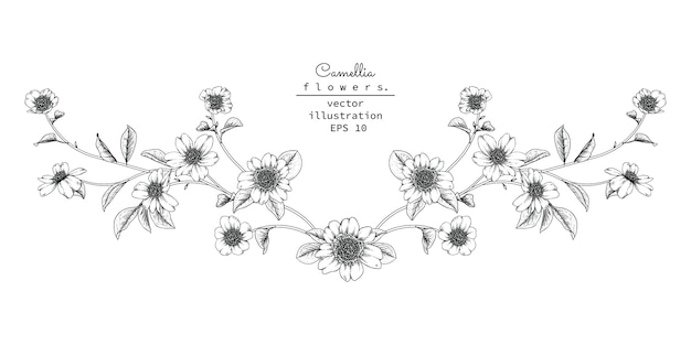 ヘッダーの花柄のデザイン要素