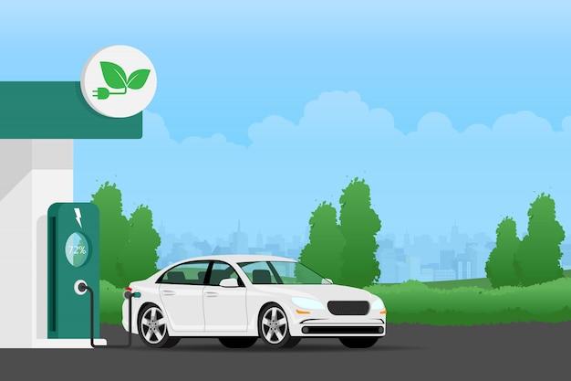 電気自動車の充電バッテリー。