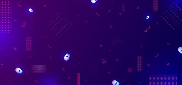 グラデーションと光の幾何学的なデザインの背景