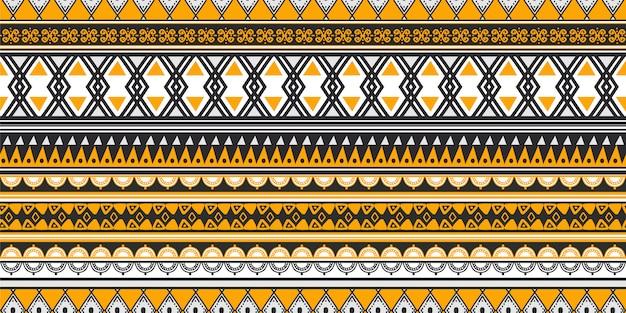 ストライプ部族パターン古代