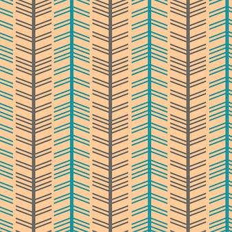 Бесшовный шевронный стиль из елочки с винтажными цветами
