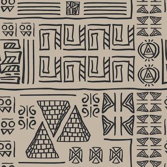 部族シームレスパターン