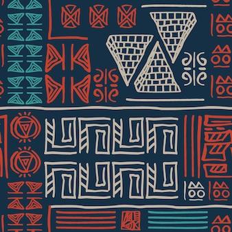 手描きの部族のパターン