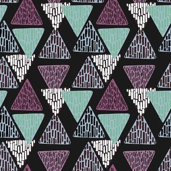 Винтаж геометрический треугольник рисованной абстрактной многоцветной