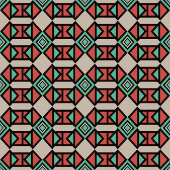 部族の幾何学的な抽象的な多色のパターンボヘミアンのテーマ