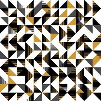 三角のシームレスなパターン黄色と黒のユニークなスタイル