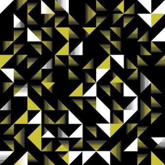 白と黄色の三角形のシームレスなパターン