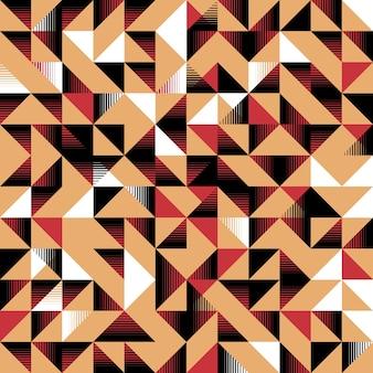 三角形のシームレスなパターン黄色、黒と白