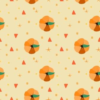 ハロウィーンの新しいカボチャかわいいシームレスパターン