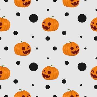 ハロウィンフランケンシュタインとウェブクモ可愛いシームレスパターン