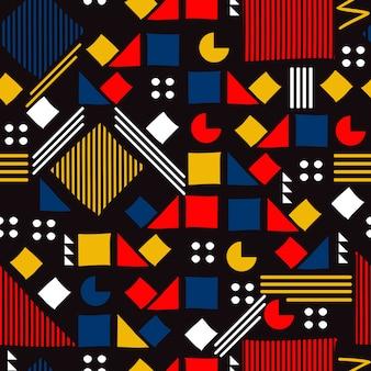 メンフィス幾何学的シームレスパターン