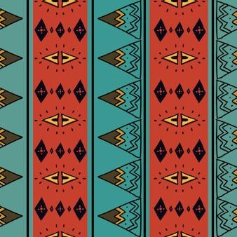 アフリカのカラフルな背景と種族のシームレスなパターン