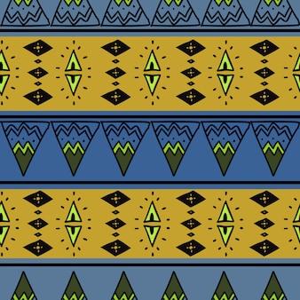 アフリカのシームレスパターンカラフルな抽象画