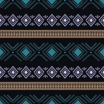 トレンディな部族のアステカのシームレスパターン