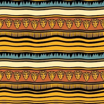 古代のストライプの部族の手描きのパターン