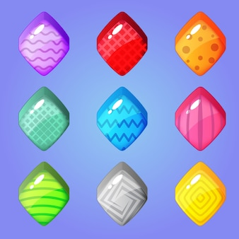 Симпатичные красочные конфеты ромбовидной формы и другие узоры внутри.