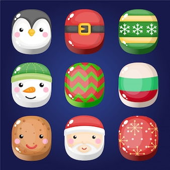 クリスマストのキャラクターセット