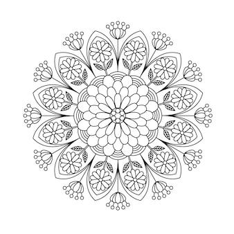 マンダラ渦巻き印刷可能な着色ページ。