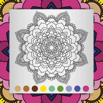 Мандала цветок для взрослых расслабляющий книжка-раскраска.